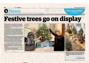 Newspaper cutting Tree Festival