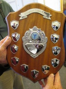 Presentation of shield by Jack Owen at Town Hall 8 Oct 2014 AG camera