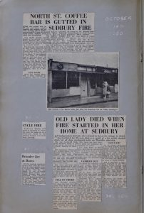 Bambi Coffee Bar Fire Scrapbook 1960