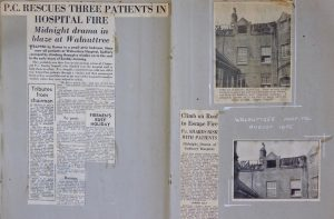 Walnuttree Hospital Fire Scrapbook1955